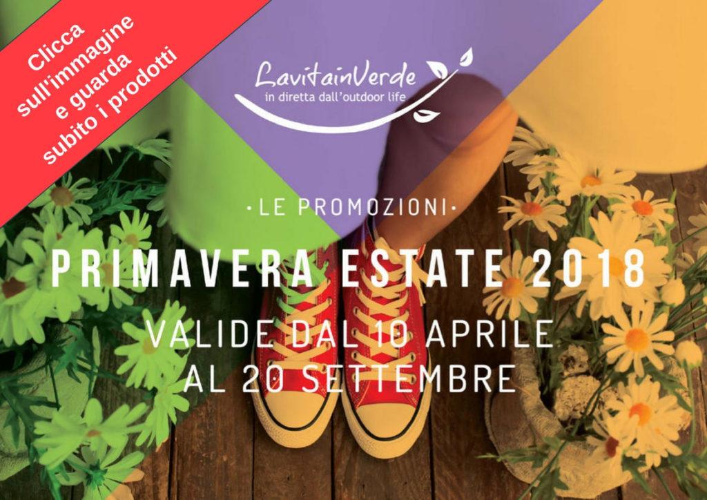 Copertina Volantino-Promozioni La Vita in verde Primavera Estate 2018 - Promozioni valide fino al 20 Settembre 2018